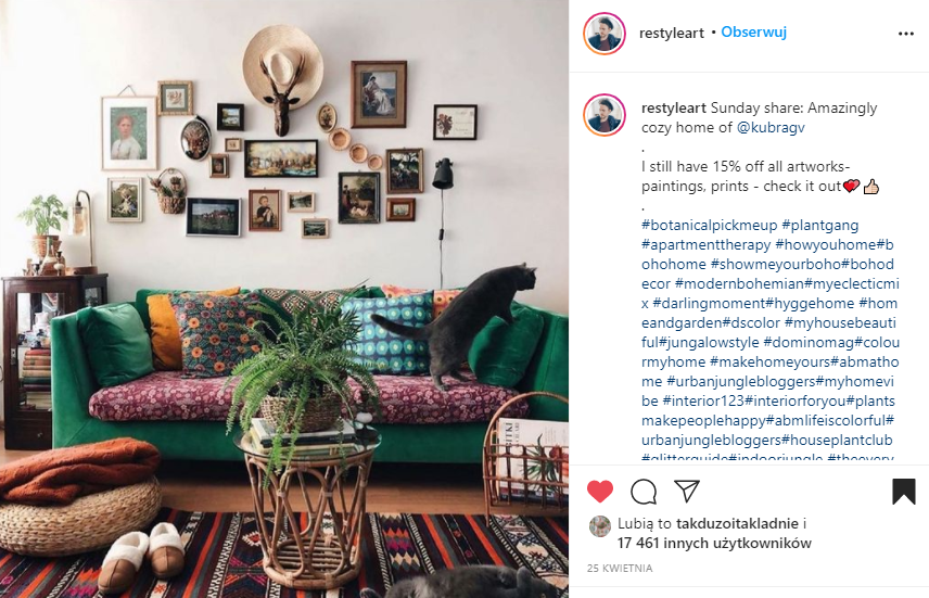 domowa galeria czyli posob odświeżenie salonu