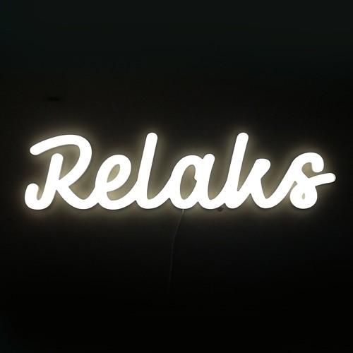 Napis świetlny Relaks