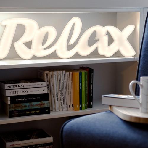 Dekoracja świetlna do pokoju Relax